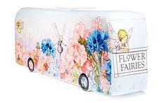 Flower Fairies bus (#Yearofthebus TFL sculpture trail) by artist Michelle Heron