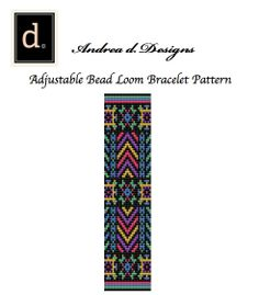 Neon Beaded Loom Pattern Peyote Bracelet Pattern by dvorakdesigns, $4.00