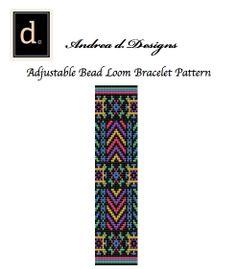 Neon Beaded Loom Pattern Peyote Bracelet Pattern by dvorakdesigns, $4.00