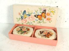 Vintage box of Avon soap butterfly decal decorative by StephieD, $12.00