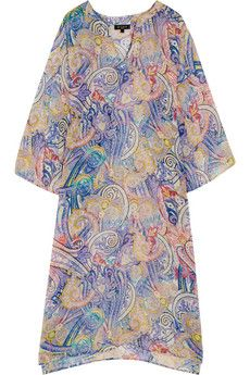 Etro Printed silk-chiffon kaftan | NET-A-PORTER