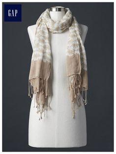 Batik print scarf