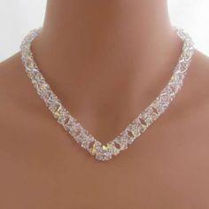 Handmade Necklaces | Swarovski Crystals V Necklace - handmade wedding jewelry - bridesma ...