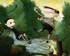 addams family art by joe galluccio
