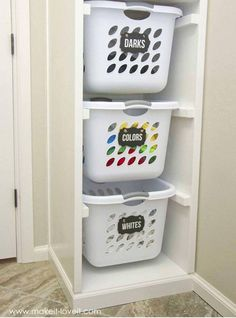 Laundry organization for the OCD type
