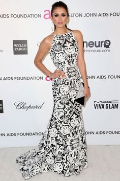 Our Favorite Celebs Make Their Rounds On The Oscar Party Circuit: Nina Dobrev in Naeem Khan
