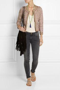 Multicolored Tussar silk Hook fastenings through front silk Dry clean Silk Jacket, Malene Birger, Frame Denim, Paisley Print, Designer Wear, Blouse Designs, Vintage Dresses, Cropped Jackets, Womens Fashion