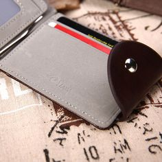 Biahos Leather Passport Cover Heart Gay Man Wallet For Passport Case