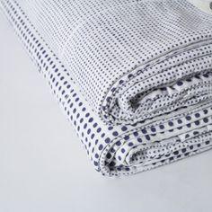Cotton Dots Quilt - Indigo