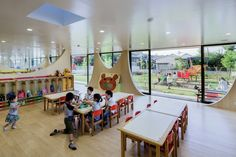 Image 1 of 15 from gallery of Yutaka Kindergarten / SUGAWARADAISUKE. Photograph by Jeremie Souteyrat