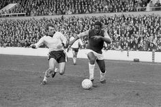 Clyde Best takes on Tony Gough of Hereford in an FA Cup fourth round replay at Upton Park in February 1972.