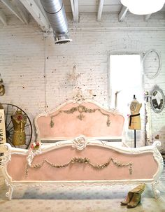 Painted Cottage Shabby  French Romantic  Bed  by paintedcottages