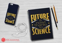 Future is now! Thanks t science - Motivational quote by Clemont in Pokemon - Design by ASCasanova