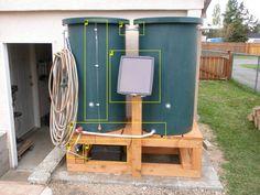 Build your own solar rain barrel water pressure
