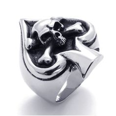 guys cool fashion accesories | fashion-jewelry-accessories-punk-style-spades-skull-ring-titanium ...