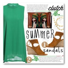 """Summer Street Style"" by beebeely-look ❤ liked on Polyvore featuring Aquazzura, Summer, summertime, sammydress, summersandals and Dressunder50"