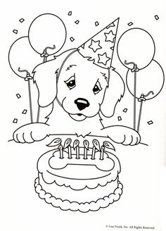 lisa frank coloring pages 2. free printable Lisa Frank Casey Casy Camus Candy golden retriever yellow  lab birthday party cake balloons Coloring Pages Enjoy coloring pages Animals Pets Pinteres