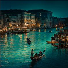 Italy - Drift in a boat in Venice, on a peaceful and well-awake evening