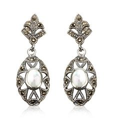 Joyeria Plata y Azabache Artesania Galicia Home Page Silver and Black Jet Crafts Jewelry Crafts Tax Free, Marcasite, Jewelry Crafts, Drop Earrings, Pearls, Sterling Silver, Retro, Womens Fashion, Collection