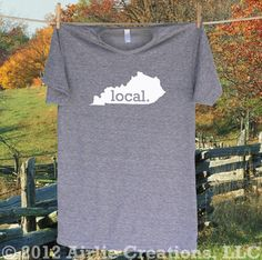 For all you Kentucky locals and local University of Kentucky Wildcat fans.  Show off your local Kentucky Pride in this Homeland Tees KY LOCAL T shirt -more shirt and logo colors available. $22.95, via Etsy.