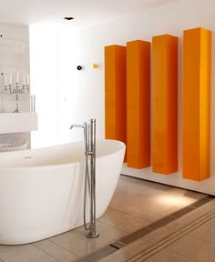 Beautiful Sunny Modern Apartment In Brazil Shiny Bespoke Furniture Elements Vital  Colors #bathroom