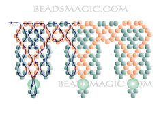 Free pattern for necklace Sami - 2 U need: seed beads 10/0 -11/0 pearl beads 4-6 mm