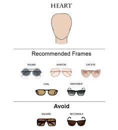 Glass Frames for Heart Face Shape  #glasses #sunglasses #eyeglasses