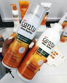 Cantu Shea Butter Dry Co-Wash and Apple Cider Vinegar Root rinse. Good while wearing braids ♡✧ Best Natural Hair Products, Natural Hair Care Tips, Curly Hair Tips, Curly Hair Care, Natural Hair Journey, Curly Hair Styles, Natural Hair Styles, Pelo Natural, Au Natural