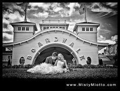 Down by the boardwalk...for the full post: http://magicaldayweddings.com/2012/06/disneys-boardwalk-wedding-emily-aaron/.html - #Orlando #weddingphotographer Misty Miotto