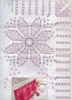 World crochet: Motif 278 Filet Crochet, Crochet Doily Diagram, Crochet Wool, Crochet Motifs, Granny Square Crochet Pattern, Cute Crochet, Crochet Doilies, Crochet Stitches, Crochet Butterfly Pattern