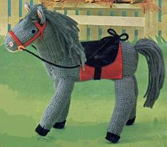 There's still time to make toys for good little girls and boys – A Fine Knitted Horse