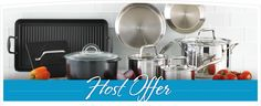 Lifetime warranty cookware 60% for April hosts. Contact me on my site: new.pamperedchef.com/pws/amandacooksforyou