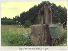 Poland, Suwałki Region. The well in the meadow in Dubowo village, close to the border with Lithuania.