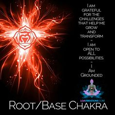 Root chakra affirmation with statements to help you feel grounded and secure.