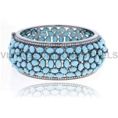 Oval Cut Turquoise Bangle Pave Diamond 14k Gold 925 Silver Gemstone... ($1,342) ❤ liked on Polyvore featuring jewelry, bracelets, diamond cuff bracelet, 14k gold bangles, gold diamond bangle, gold bracelet bangle and diamond bangle bracelet