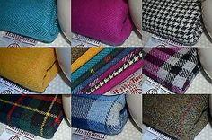 Harris Tweed Fabric Labels 100 Wool Tartan Herringbone Houndstooth Scotland | eBay for smocked throw