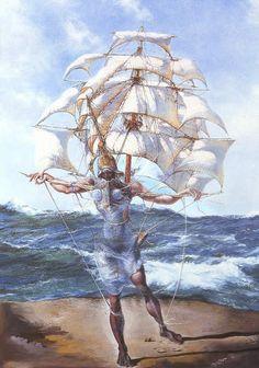 Salvador Dali, el barco