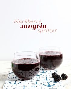 Summertime's not over yet! Cool off before it cools down with this simple (and individually made!) Blackberry Sangria Spritzer.