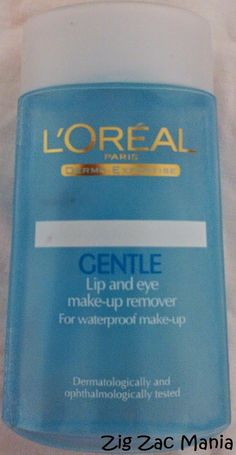 Zig Zac Mania: L'Oreal Gentle Lip & Eye Make-up Remover Review