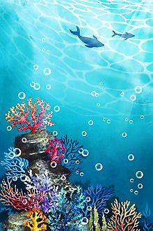 이미지포털 아이클릭아트 Coral Reef Drawing, Coral Painting, Underwater Drawing, Ocean Drawing, Sea Plants, Under The Ocean, Ocean Wallpaper, Ocean Scenes, China Art