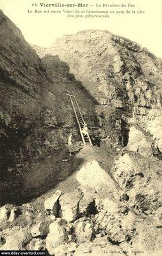 Pointe du Hoc, carte postale d'avant-guerre (pre-war postcard)