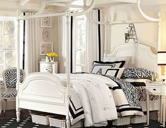 Zebra Print Bedroom Ideas for Teenage Girl - Coraline Zebra Bedroom Design