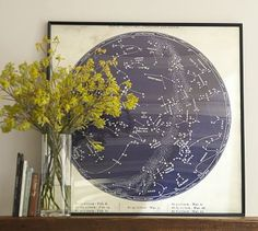 Astrological Chart Framed Print. Might be cool to do engineering poster size prints in B/W. Engineering prints at Staples 18x24 $1.79, 24x36 $3.69, 36x48 $7.29