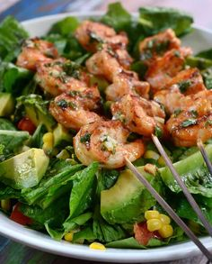 Grilled Shrimp Taco Salad Recipe