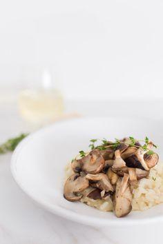 risotto cogumelos e tomilho