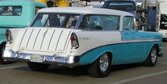 1956 Chevy Nomad Station Wagon.  This is like the one my parents had when I was a child.  I loved this car!