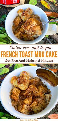 Best Gluten Free Recipes, Vegetarian Recipes, Healthy Recipes, Vegan Blogs, Healthy Desserts, Easy Recipes, Healthy Food, Gluten Free Mug Cake, Vegan Mug Cakes