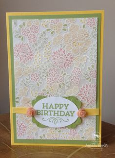 Today's card is made using heat embossing on vellum and then water coloured on the reverse, sounds tricky but it isn't I promise! Stampin' Up!'s vellum card stock is really tough and stands up to heat embossing really well, here is a close up for you. I promised it was easy, so here is a …