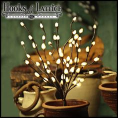 Pussy Willow Lighted Accent Branch $44.99