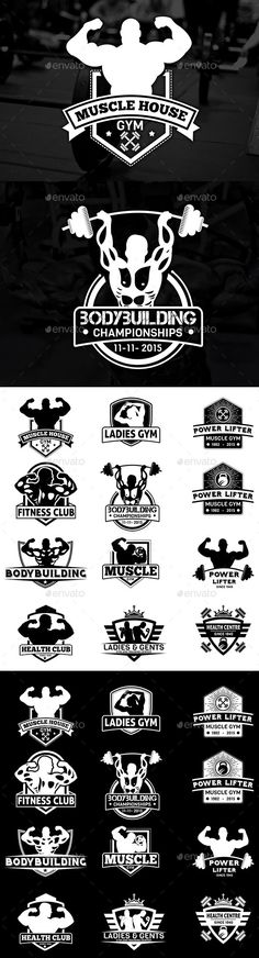 Bodybuilding Labels & Badges Vol 23 - Badges & Stickers Web Elements